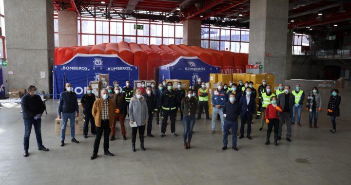 Madrid recibe donaciones de mascarillas, guantes y gafas de protección