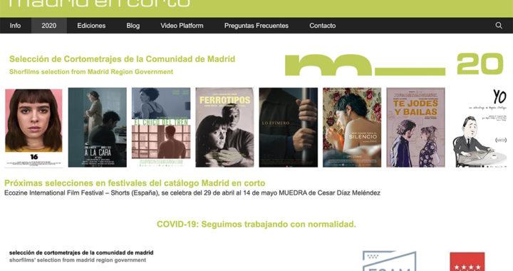 Presentados los cortometrajes seleccionados para Madrid en Corto 2020