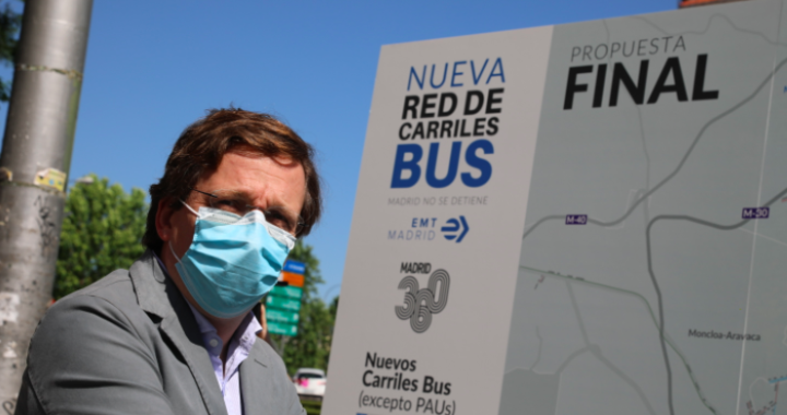 Madrid contará con 45 kilómetros adicionales de carriles bus