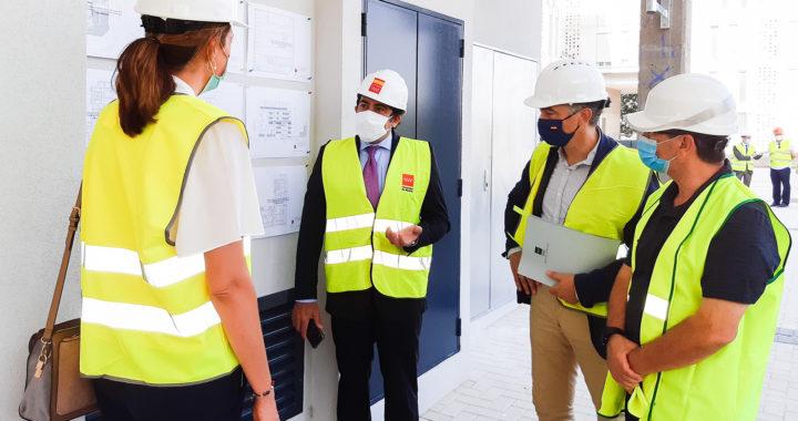Se ultiman las obras de una promoción de viviendas en el Ensanche de Vallecas