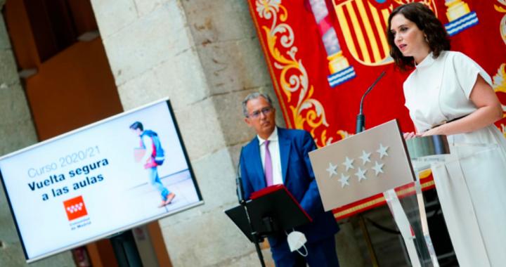 Madrid presenta su propuesta para la vuelta al cole
