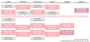 Horarios curso 20-21