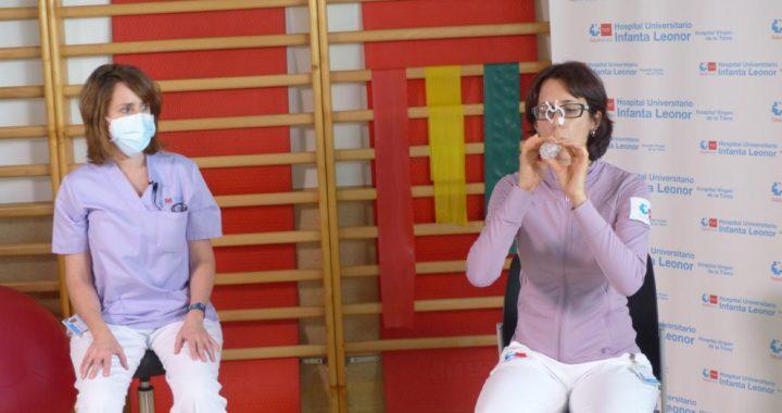 El Hospital Infanta Leonor apoya a los pacientes covid-19 en su rehabilitación
